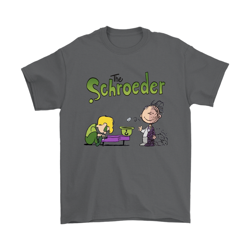 Batman The Schroeder And Two Face Pig Pen Snoopy Shirts-T-shirt-Gildan Mens T-Shirt-Charcoal-S-Snoopy Facts