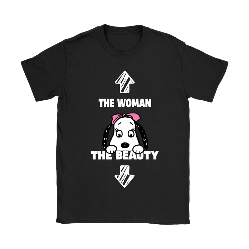 Belle The Woman The Beauty Funny Snoopy Shirts-T-shirt-Gildan Womens T-Shirt-Black-S-Snoopy Facts