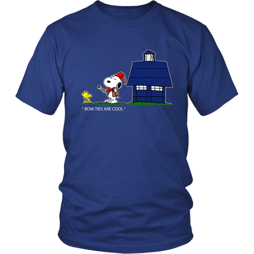 Bow Ties Are Cool Doctor Who Mashup Snoopy Shirts-T-shirt-Gildan Unisex Shirt-Royal Blue-S-Snoopy Facts