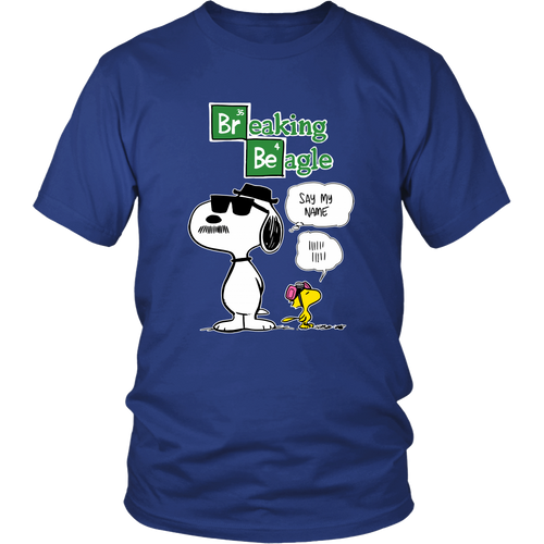 Breaking Beagle Snoopy Shirts-T-shirt-Gildan Unisex Shirt-Royal Blue-S-Snoopy Facts