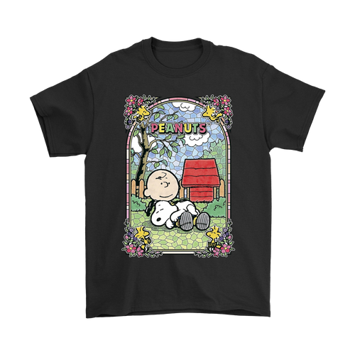 There's No Place Like Home Church Stained Glass Style Snoopy Shirts