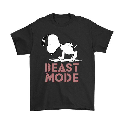 Beast Mode Gym Training Mode On Try Hard Snoopy Shirts