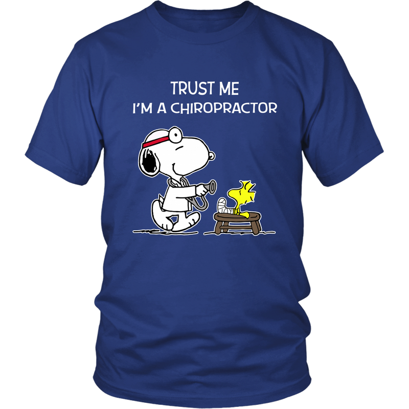 Trust Me I'm A Chiropractor Snoopy Shirts-T-shirt-Gildan Unisex Shirt-Royal Blue-S-Snoopy Facts