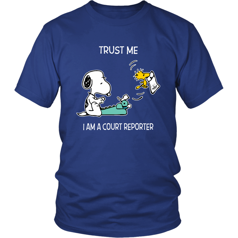 Trust Me I'm A Court Reporter Snoopy Shirts-T-shirt-Gildan Unisex Shirt-Royal Blue-S-Snoopy Facts