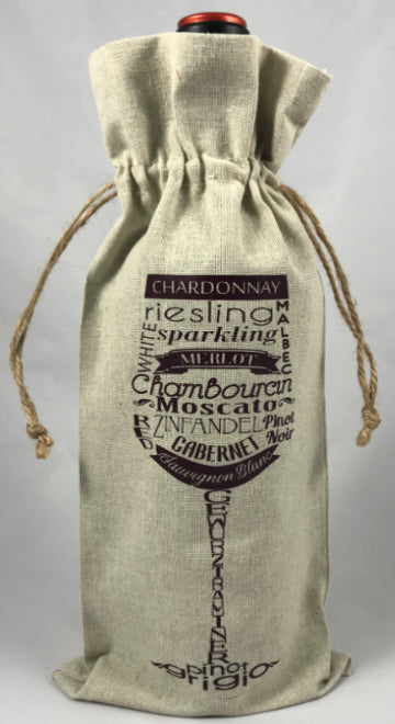 Wine Gift Bag | Wine Glass with Varietals