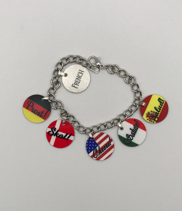 Charm Bracelet | Cheers in Six Languages