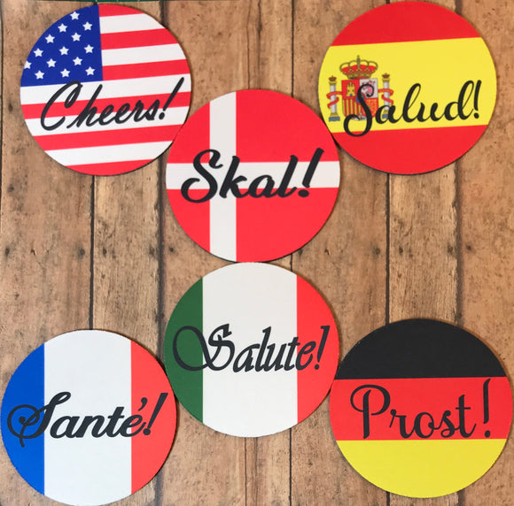 Coasters | Cheers in Six Languages