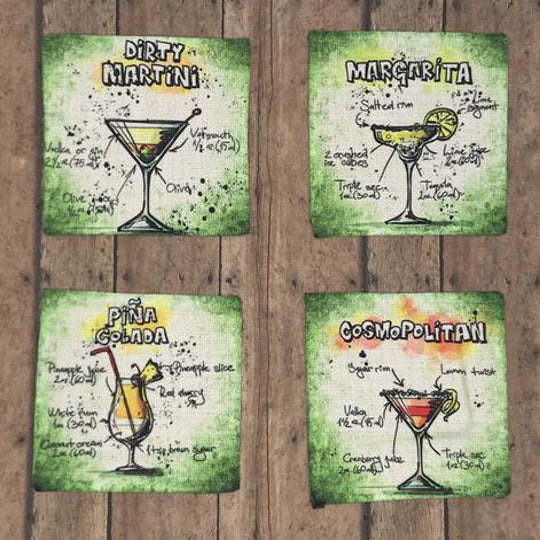 Coasters | Linen | Cocktail Recipes