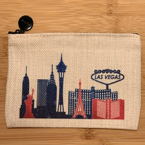 Zippered Pouch | Las Vegas Skyline | Three Sizes