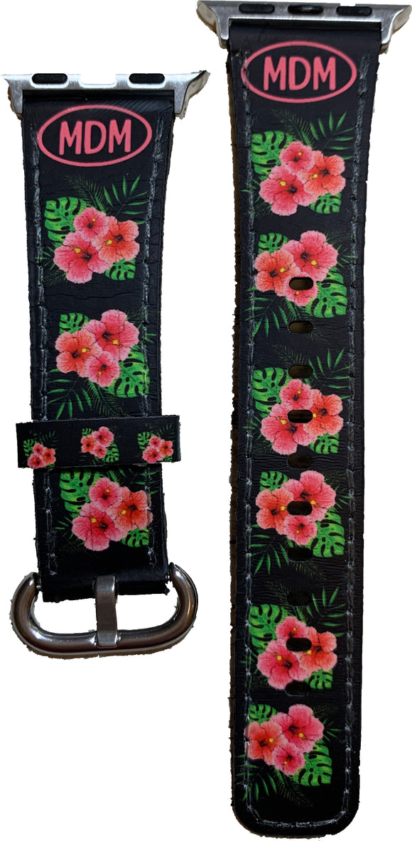 Apple Watch Band | 38mm or 42mm | Hibiscus Flowers