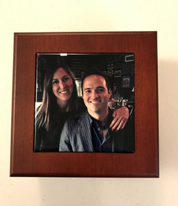 Mahogany Finish Wood Photo Box