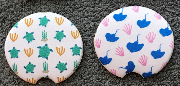 Turtle/Ray Car Coasters