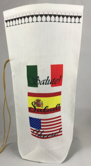 Wine Gift Bag | Cheers! in Six Languages