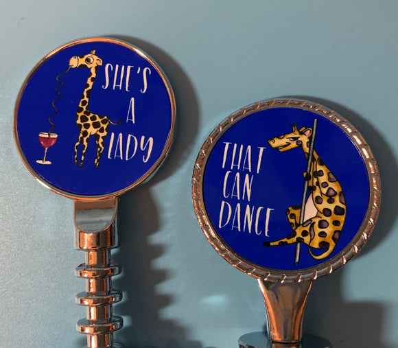Wine Opener or Stopper | Giraffe - She's a Lady That Can Dance