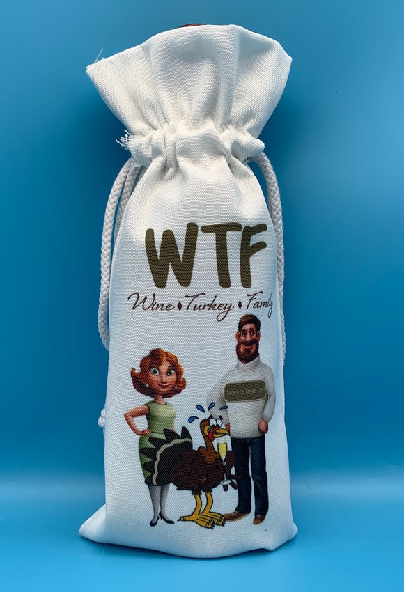 Wine Gift Bag | Wine, Turkey & Family (WTF)