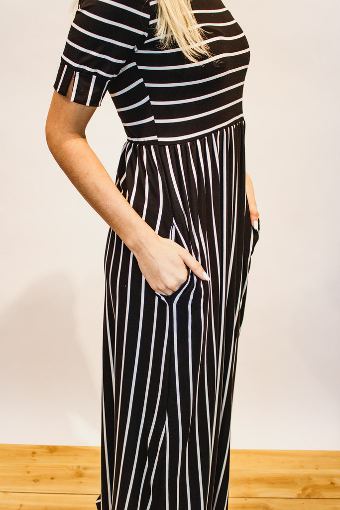 Between the Lines Maxi Dress