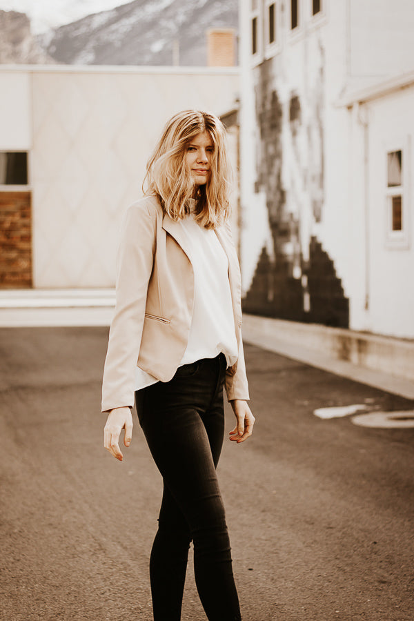 The Victoria Blazer in Tan