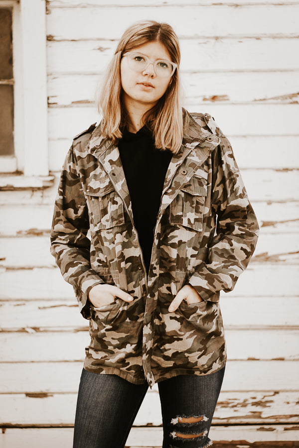 The Hazel Camo Utility Jacket