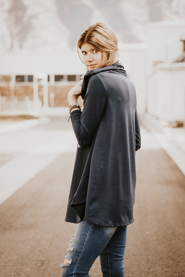 The Rowan Hoodie in Navy