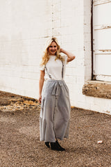 The Nya Overall Skirt in Sage Green