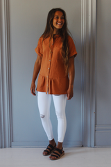 Gabbie Top in Orange