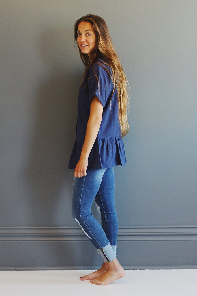 Gabbie Top in Navy