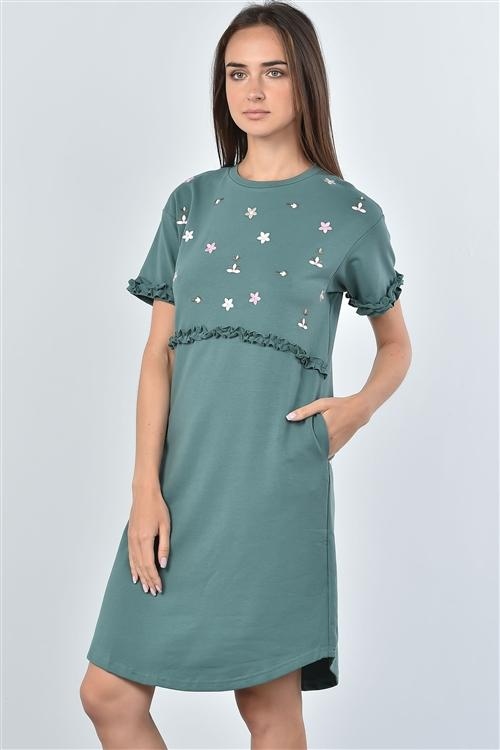 First Bloom Dress in Green