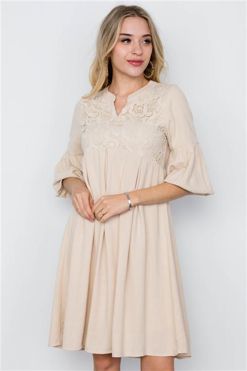 Salt Lake Dress in Taupe