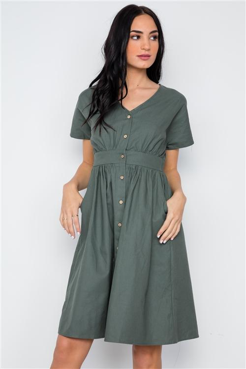 Lovin' It Dress in Olive