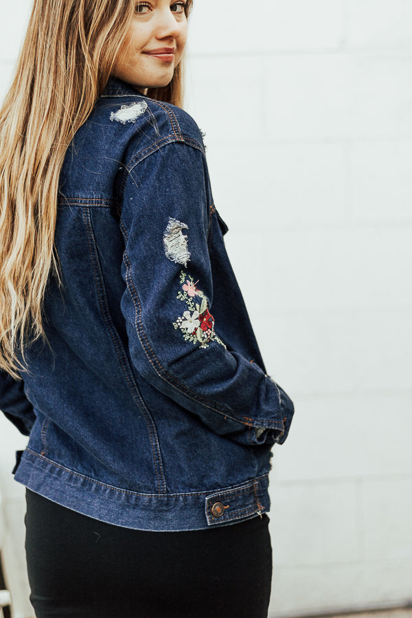 The Mia Embroidered Denim Jacket