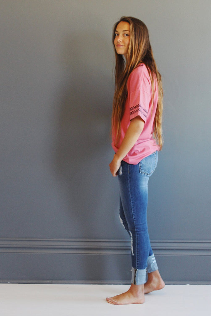 The Willow Top in Coral