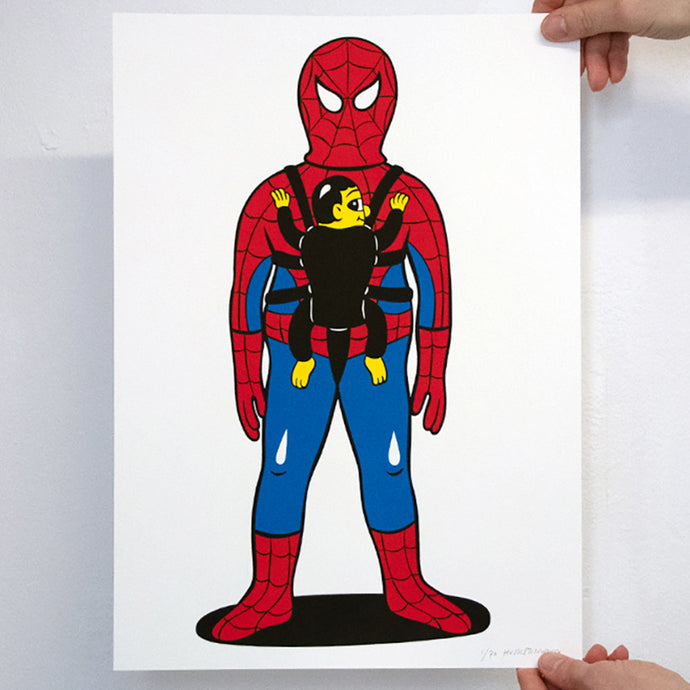 SUPER DAD. New silkscreen print. Available in the webshop. 30x40cm, edition of 70. Signed and numbered by HuskMitNavn