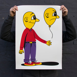 LET IT GO. New silkscreen print. Available in the webshop. 50x70cm, edition of 65. Signed and numbered by HuskMitNavn