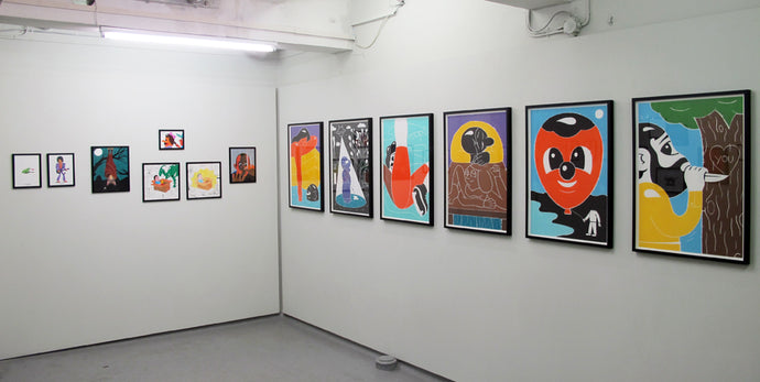 New drawings, solo in the basement space, V1 Gallery.