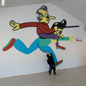 New murals at Høng Gymnasium & HF. Kindly supported by Ny Carlsbergfondet. Official opening at the high school November 30 from 19-21 o'clock. Everybody's welcome