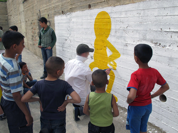 A workshop I did for kids in a refugee camp in Bethlehem