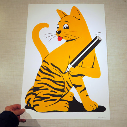 Silkscreen print. 42x59,4 cm Edition 25. Buy it at www.lefixgallery.com
