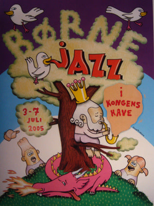 Copenhagen Jazz Festival, for kids. Official poster.