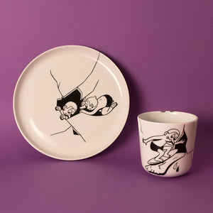 Surfer - set of plate & cup (Available again i January 2018)