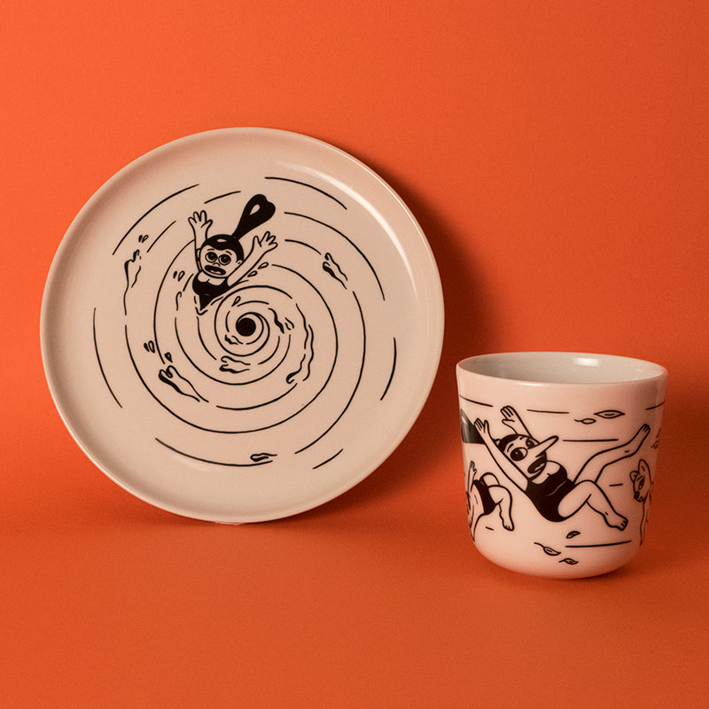 Swirl - set of plate & cup