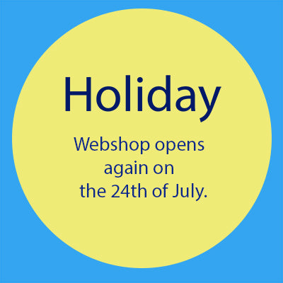 Holiday - Webshop opens again on the 24th of July.