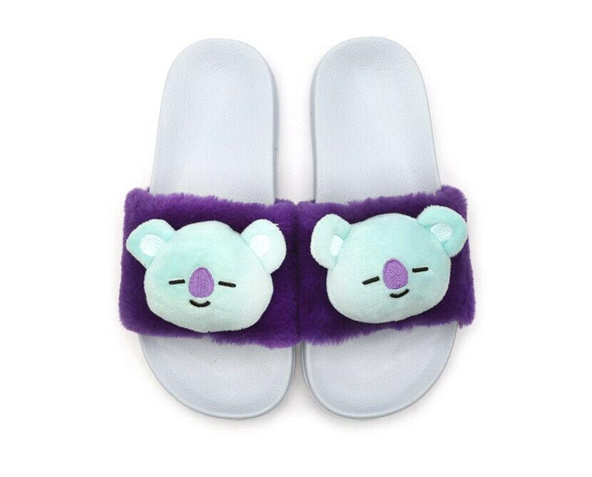 BT21 Fuzzy Fleece Slipper- KOYA Shoes Lunar Noona 36