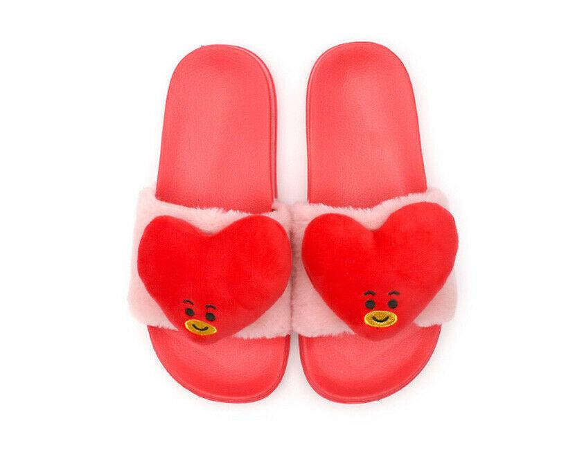 BT21 Fuzzy Fleece Slipper- TATA Shoes Lunar Noona 36