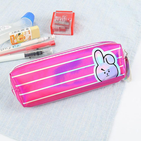 BT21 Striped Pencil Case- COOKY School Lunar Noona