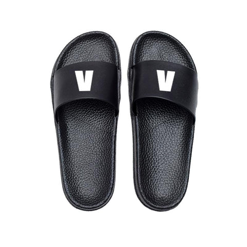 BTS Black Mesh Member Slipper- V