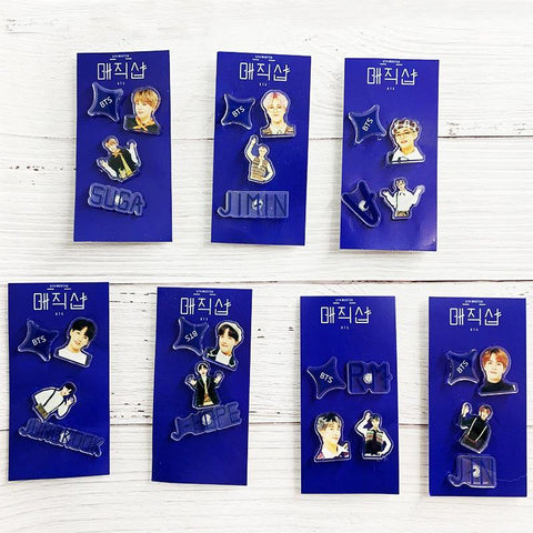BTS 5th Muster Standing Figure Accessories Set Pin Lunar Noona