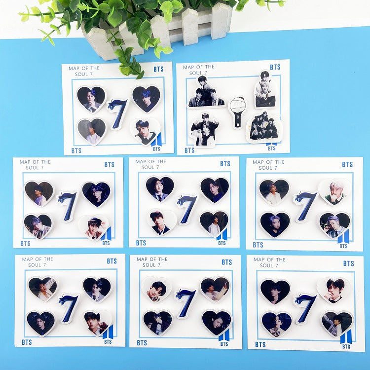 BTS Map Of The Soul: 7 5 PC Pin Set