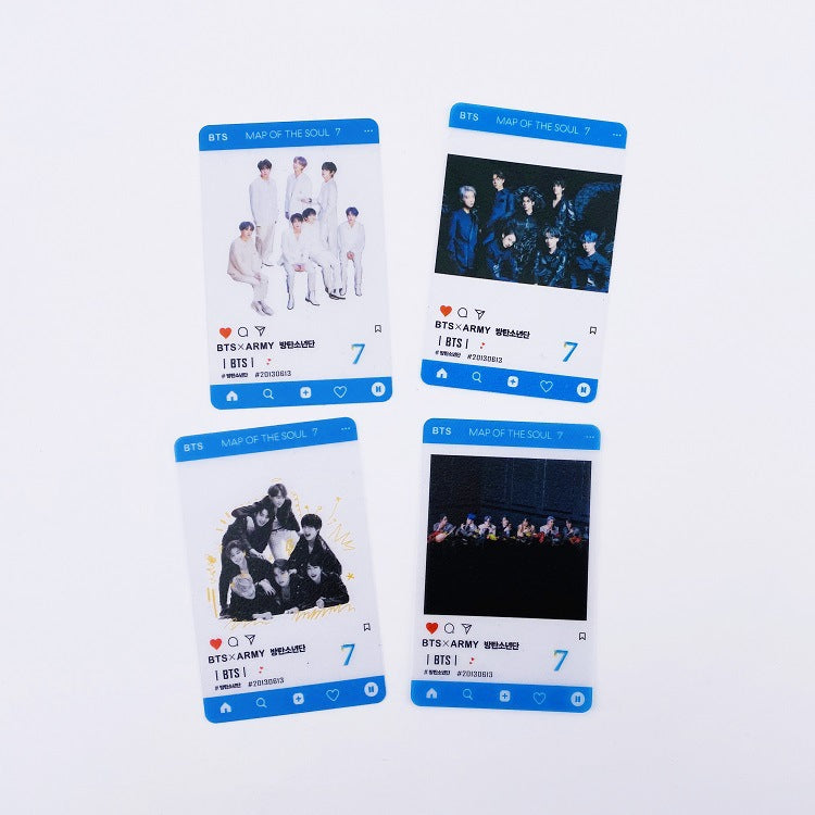 BTS Map Of The Soul: 7 Transparent Photocard Set