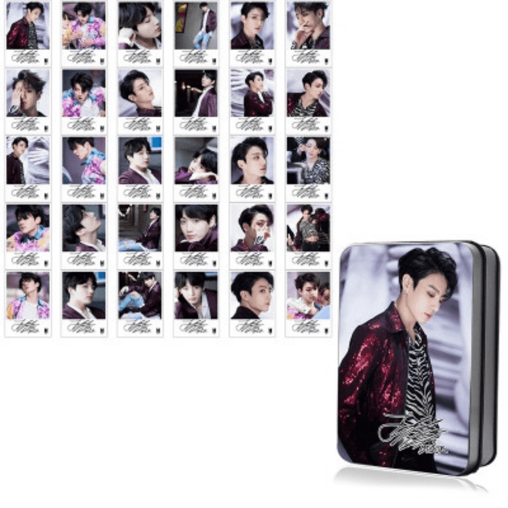 "BTS Love Yourself: Tear ""Fake Love Photoshoot"" Member 30 PC Signed Photocards- JUNGKOOK Photocard Lunar Noona"