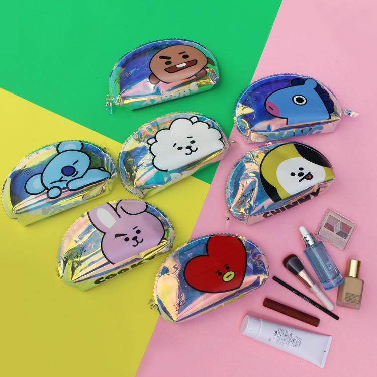 BT21 Holographic Pencil Pouch School Lunar Noona